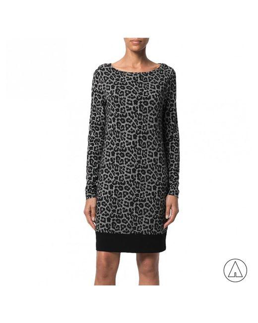 MICHAEL Michael Kors - Gray Michael Kors Leopard Print Dress In Grey - Lyst
