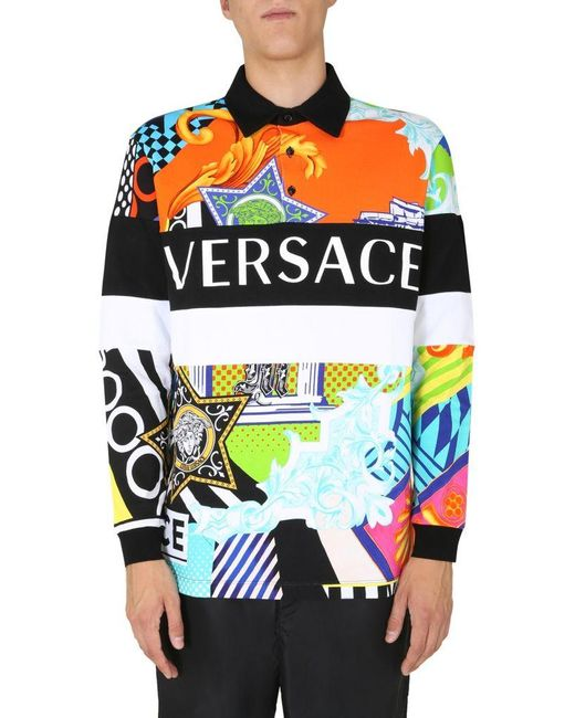 Versace Multicolor Polo Shirt for men
