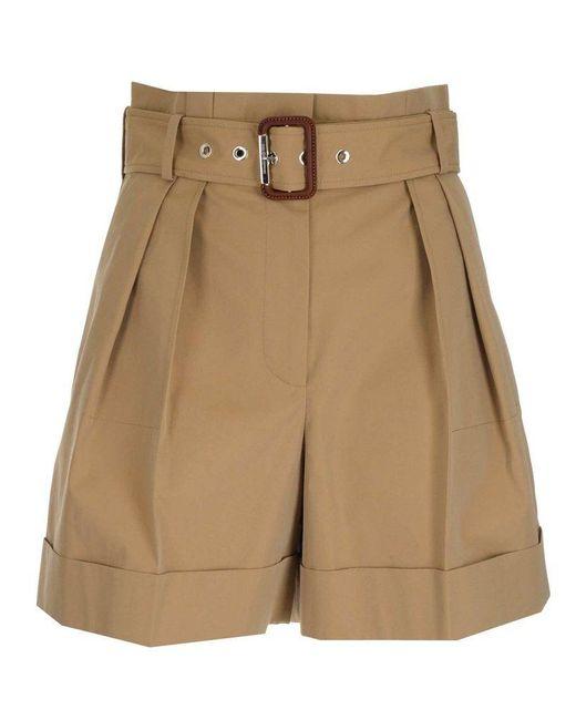 Alexander McQueen Brown Women's 654559qfaak9710 Beige Other Materials Shorts