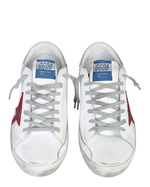 """Golden Goose Deluxe Brand White """"superstar"""" Sneakers for men"""