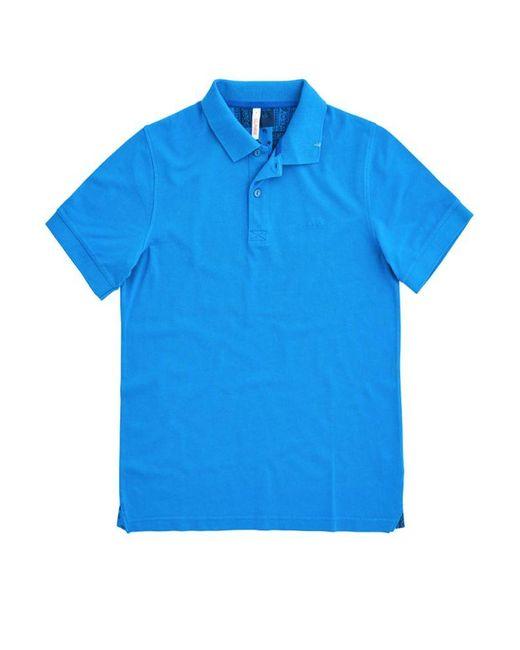 Sun68 Blue Polo Uomo