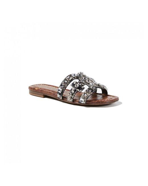 2e3ae229f ... Sam Edelman - Multicolor Bay Leather Python Slide Sandals - Lyst ...