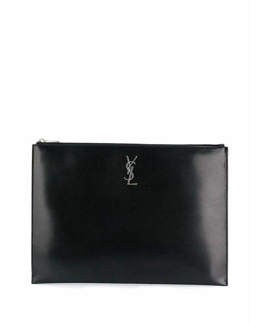 Saint Laurent Saint Laurent Men's 5346800sx0e1000 Black Leather Pouch for men
