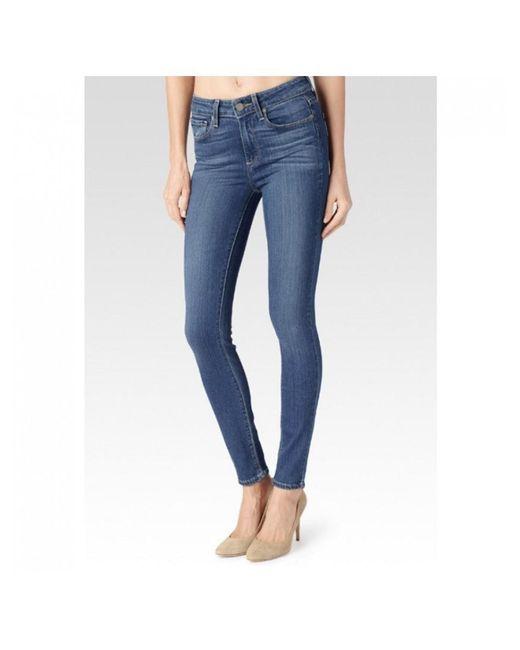 PAIGE - Blue Hoxton Transcend Skinny Jeans - Lyst