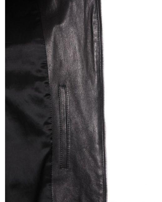 Men/'S Marrone in Pelle Classici Slim Fit Camicia Maglia in Denim con borchie bottoni stile giacca