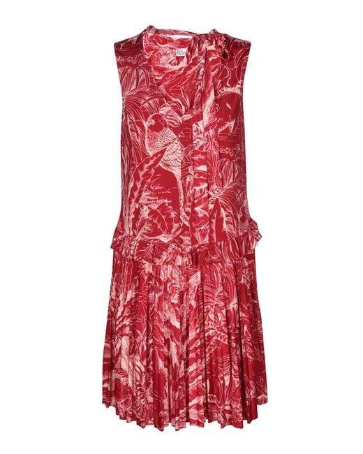 RED Valentino Women's Vr0mj07c5wjc82 Red Cotton Dress