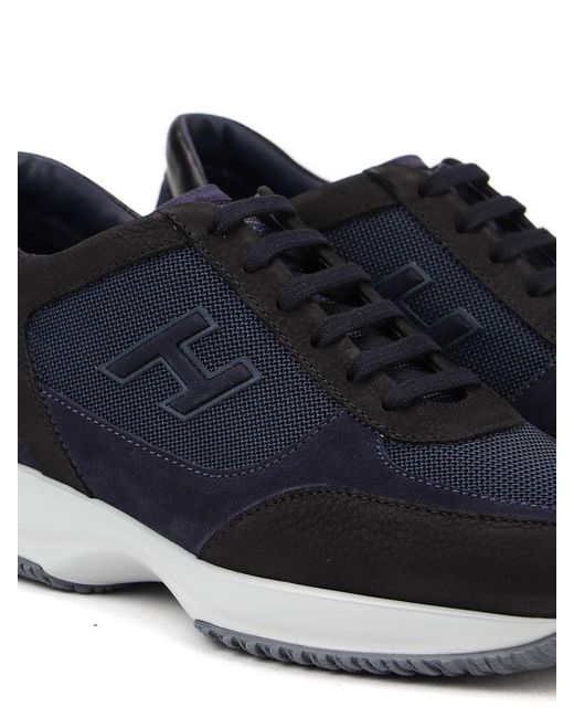 Hogan Interactive H Flock Sneakers in Blue for Men - Lyst