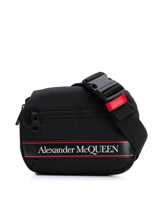 Alexander McQueen Men's 625512hv2ab1083 Black Polyamide Belt Bag for men