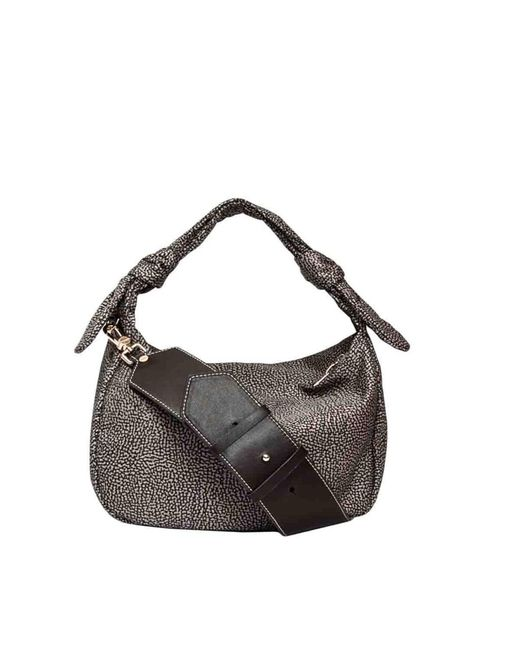 Borbonese Gray Deseret Habo Bag Small