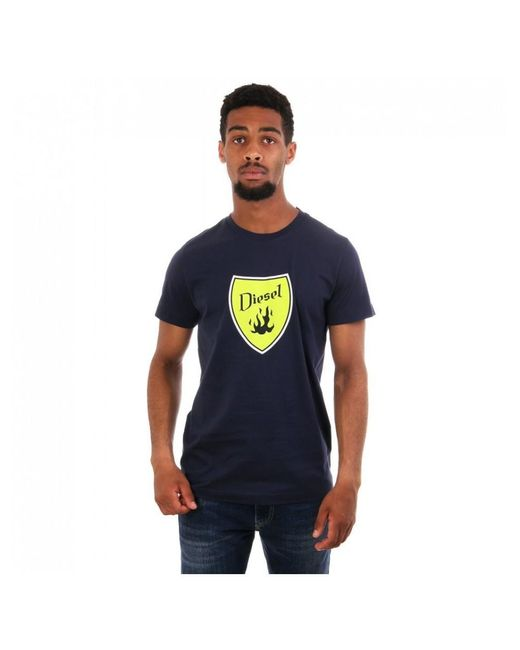 DIESEL Blue Diego B2 Crest Logo Ss Cn T Shirt