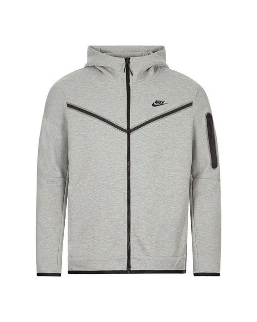 Nike Gray Sportswear Tech Fleece Hoodie for men