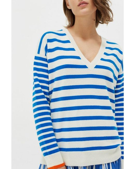 Chinti & Parker Blue Chinti & Parker V Neck Boat Sweater