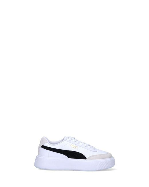 PUMA Women's 37505701 White Leather Sneakers