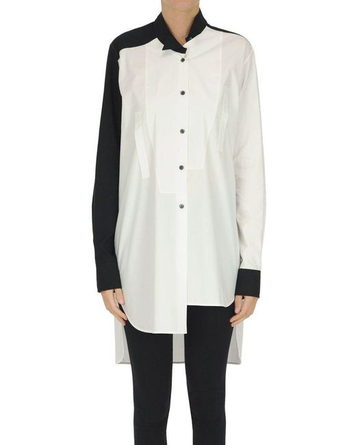 Loewe White Oversized Asymmetric Shirt