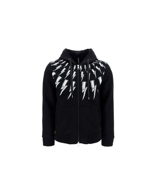Neil Barrett Men's Pbjs698sq515s524 Black Cotton Sweatshirt for men