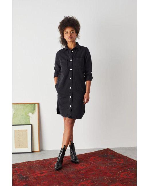 Leon & Harper Rocq Black Denim Dress