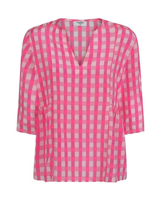 Mercy Delta Pink Bodiam Blouse Gingham Mermaid