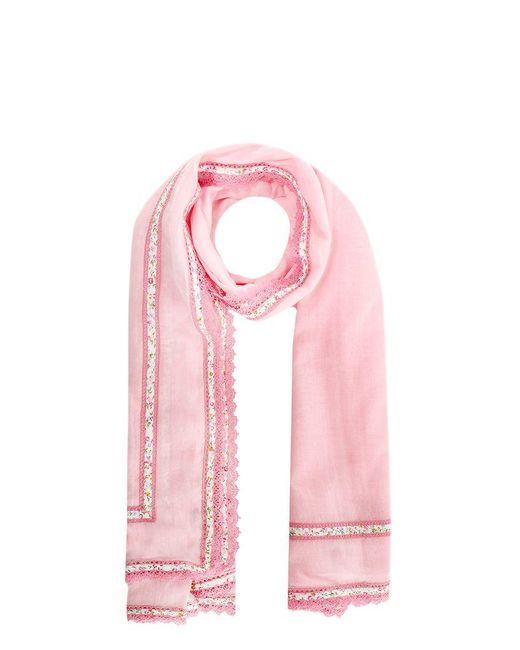Faliero Sarti Pink Cotton Scarf