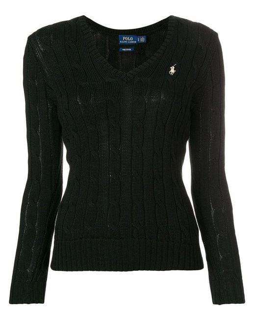 Ralph Lauren Women's 211580008039 Black Cotton Sweater