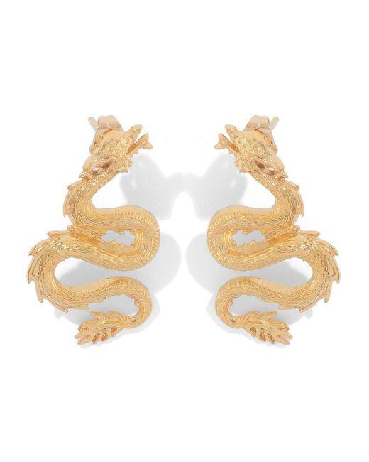 Natia X Lako Metallic Small Dragon Earrings
