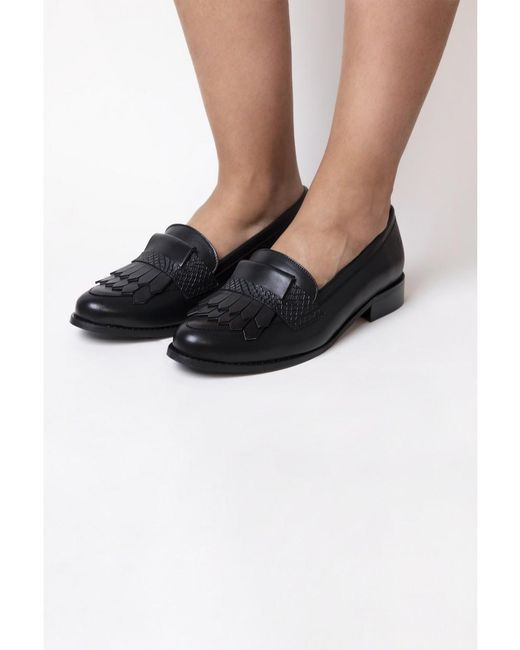 8bd4b312d2d House of Spring Eiffel Fringed Black Loafers in Black - Lyst