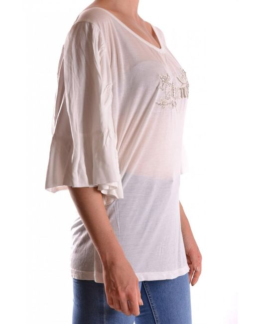 John Galliano - White Tshirt Short Sleeves - Lyst