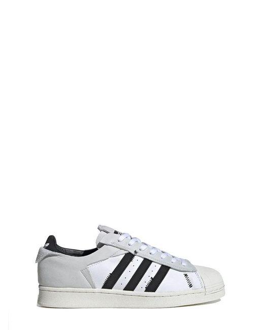 Adidas Men's Fv3024 White Leather Sneakers for men