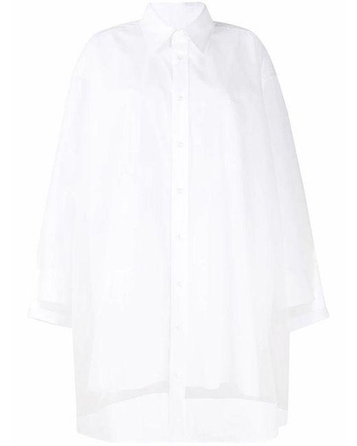 Maison Margiela Women's S51cu0221s43001100 White Cotton Shirt