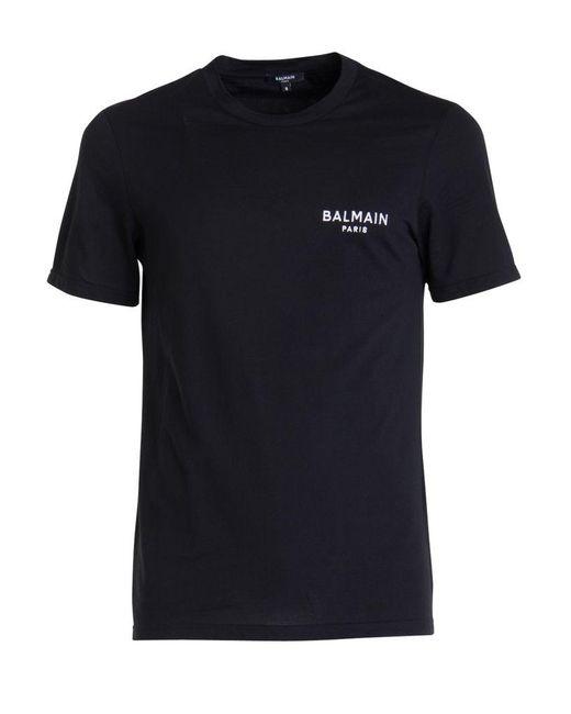 Balmain Black T-shirt for men