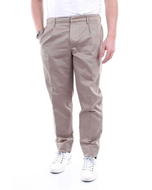 Incotex Brown Men's 1aa50420339sabbia Beige Leather Pants for men