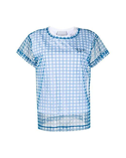 Philosophy Red T-shirt White / Blue Women