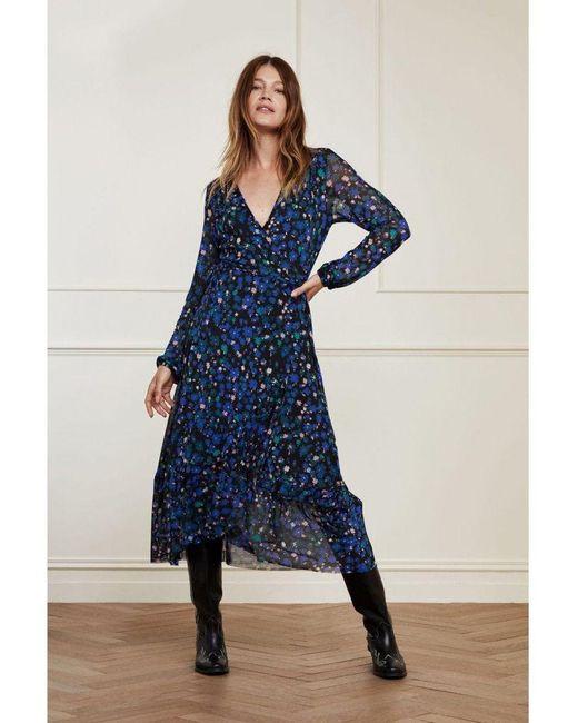 Fabienne Chapot Natasja Frill Dress Marigold Blue