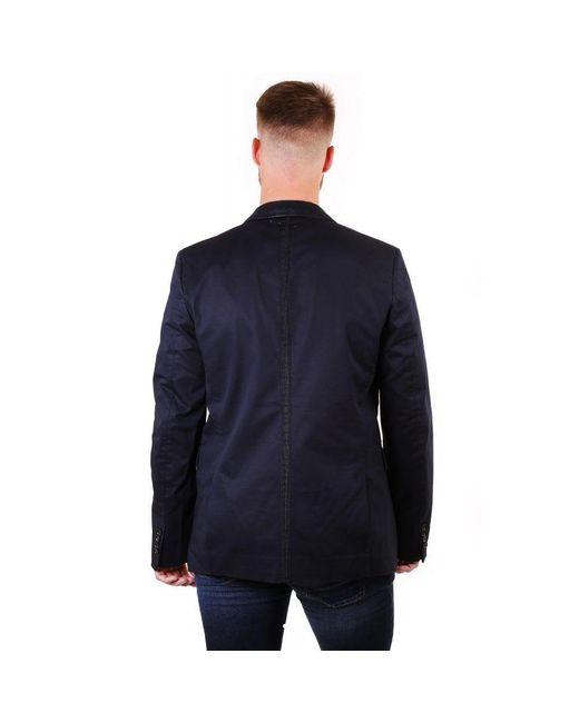 DIESEL Blue Black Gold Cotton Dinner Jacket for men