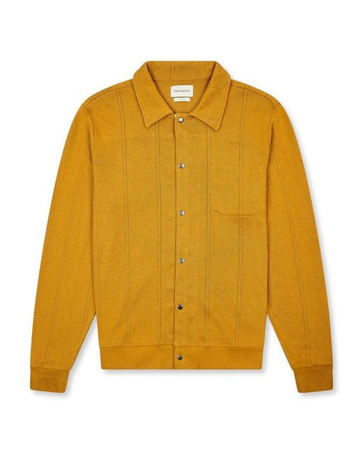 Oliver Spencer Yellow Rundell Jersey Cardigan for men