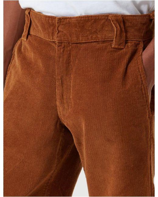 Dickies Brown 873 Cord Work Pant (slim Straight) for men
