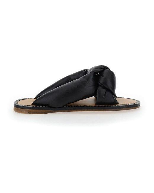 Miu Miu Women's 5xx500f005lybf0002 Black Other Materials Sandals