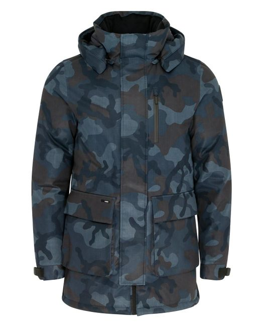 Nobis Blue Martin Parka (navy Camo) for men