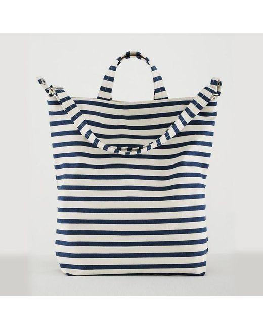 Baggu Blue Sailor Stripe Duck Bag