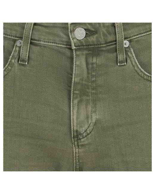 Ag Jeans Women's Green Hayley Cut Off In 1 Year Sulfer Spruce
