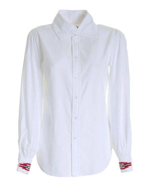 Ralph Lauren Women's 211801087001 White Cotton Shirt