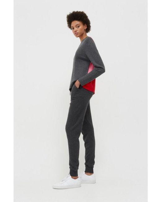 Chinti & Parker Gray Chinti & Ribbed Back Sweater