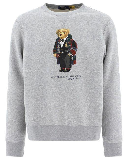 Ralph Lauren Gray Men's 710815190004 Grey Cotton Sweatshirt for men