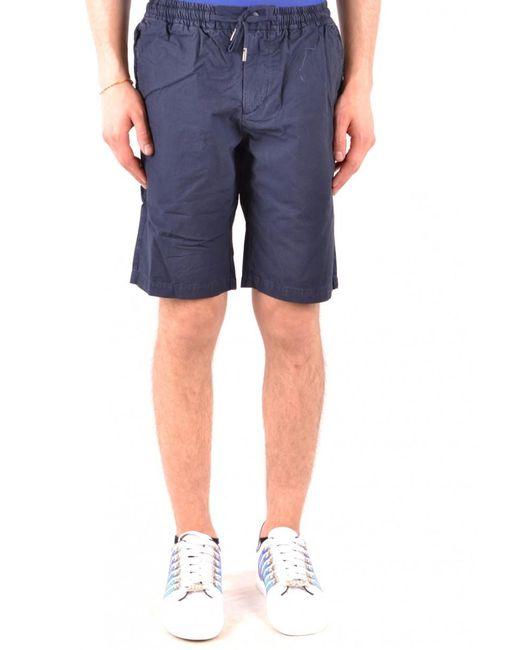 Woolrich Blue Cotton Shorts for men