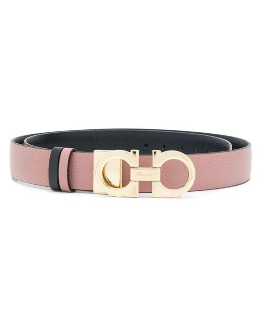 Ferragamo Women's 698660 Pink Leather Belt