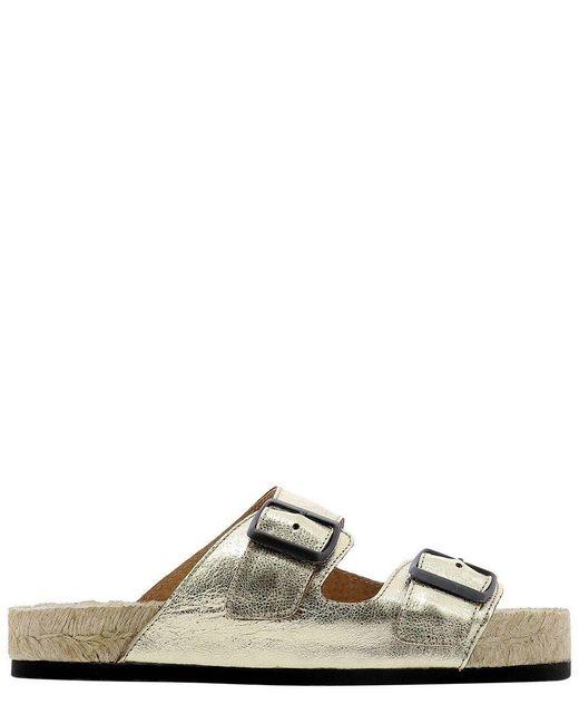Manebí Maneb㍠Women's R11r0metallicleathergold Gold Other Materials Sandals