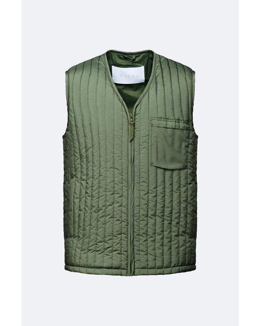 Rains Green Liner Vest for men