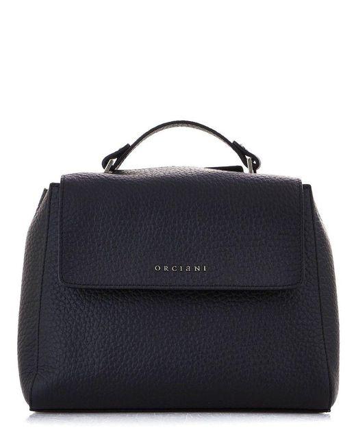 Orciani Women's B01999softblack Black Leather Handbag