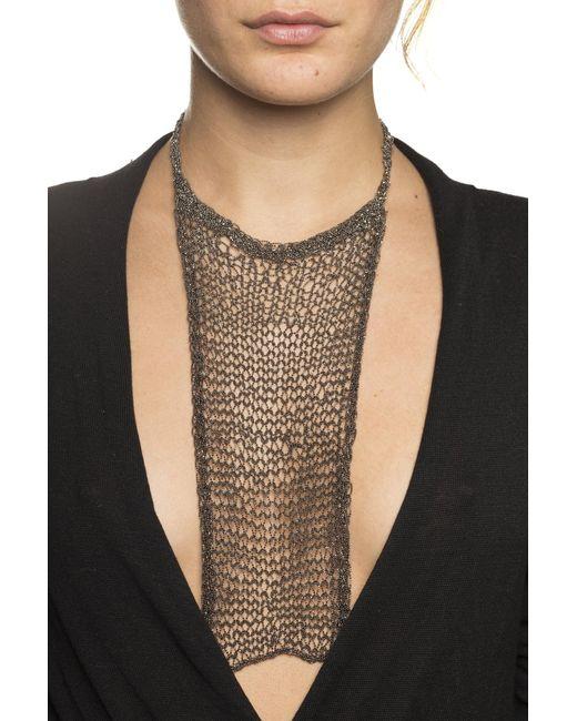 Silvia Gnecchi Black Aicha Mesh Chain Necklace