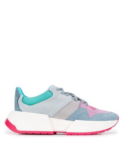Maison Margiela Blue Women's S59ws0096p2932h7963 Multicolor Leather Sneakers