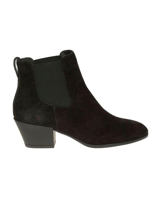 Hogan Black Flat Shoes